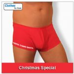 Boxer Shorts - Red (Here Cums Santa)